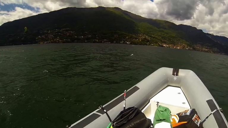 Boat kitesurfing lesson